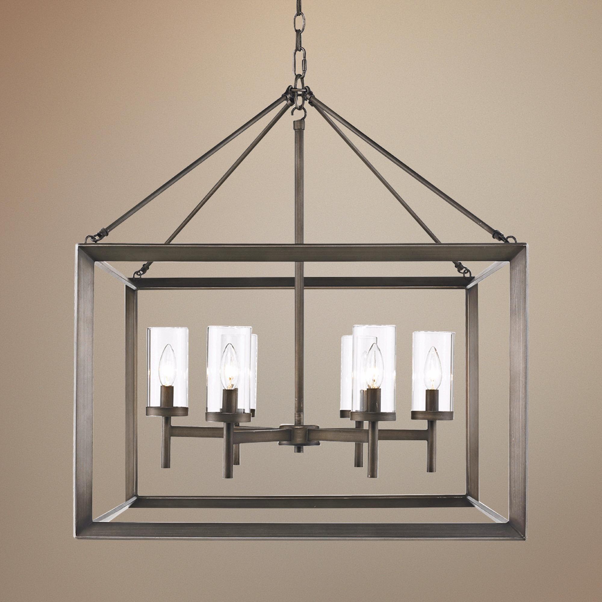 Smyth 26 34 wide gunmetal bronze cage chandelier chandeliers smyth 26 34 wide gunmetal bronze cage chandelier aloadofball Images