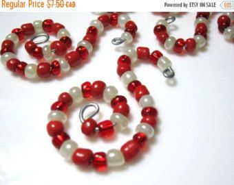 BLACK FRIDAY SALE 6 Red and White Sparkly by ChristmasisMagical