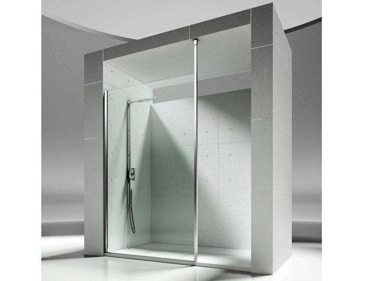 Box doccia a nicchia su misura in cristallo SKIN SJ by