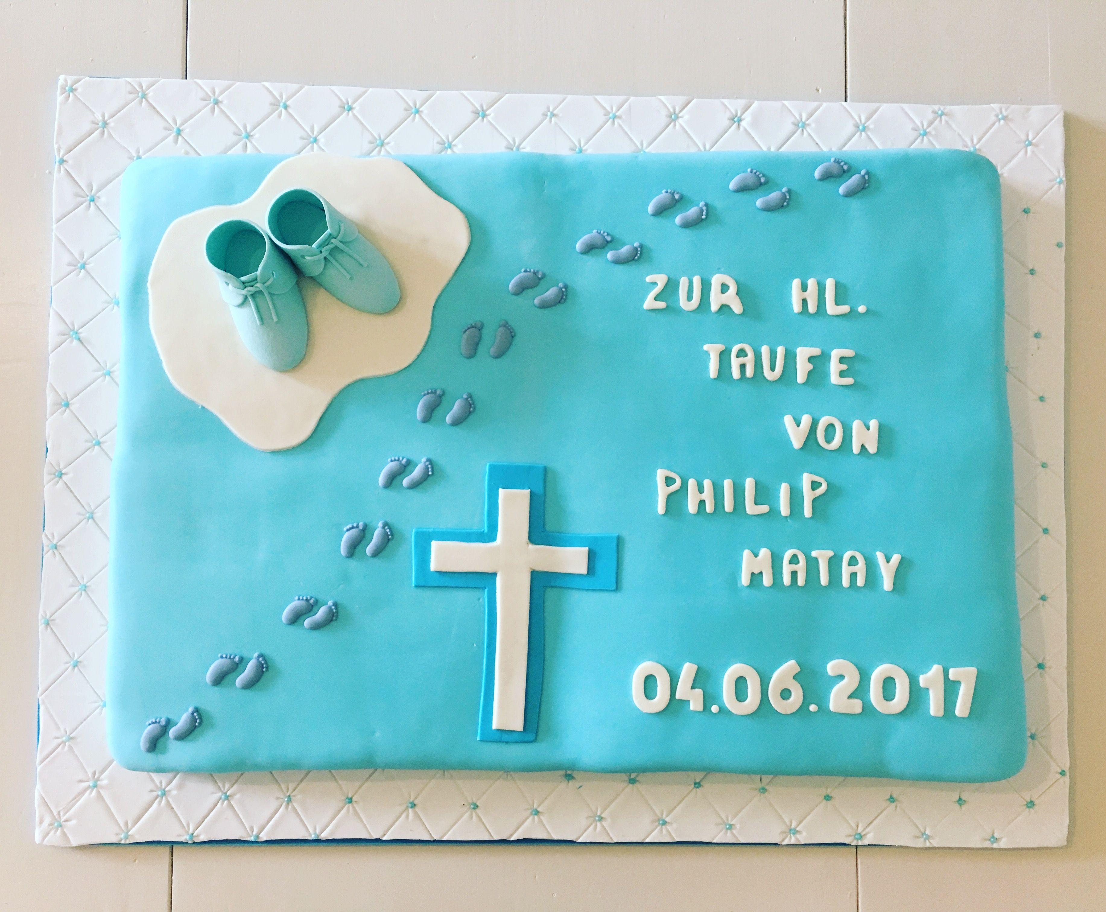 Diese torte ist zur taufe von philip matay tauftorte for Torte zur taufe selber machen