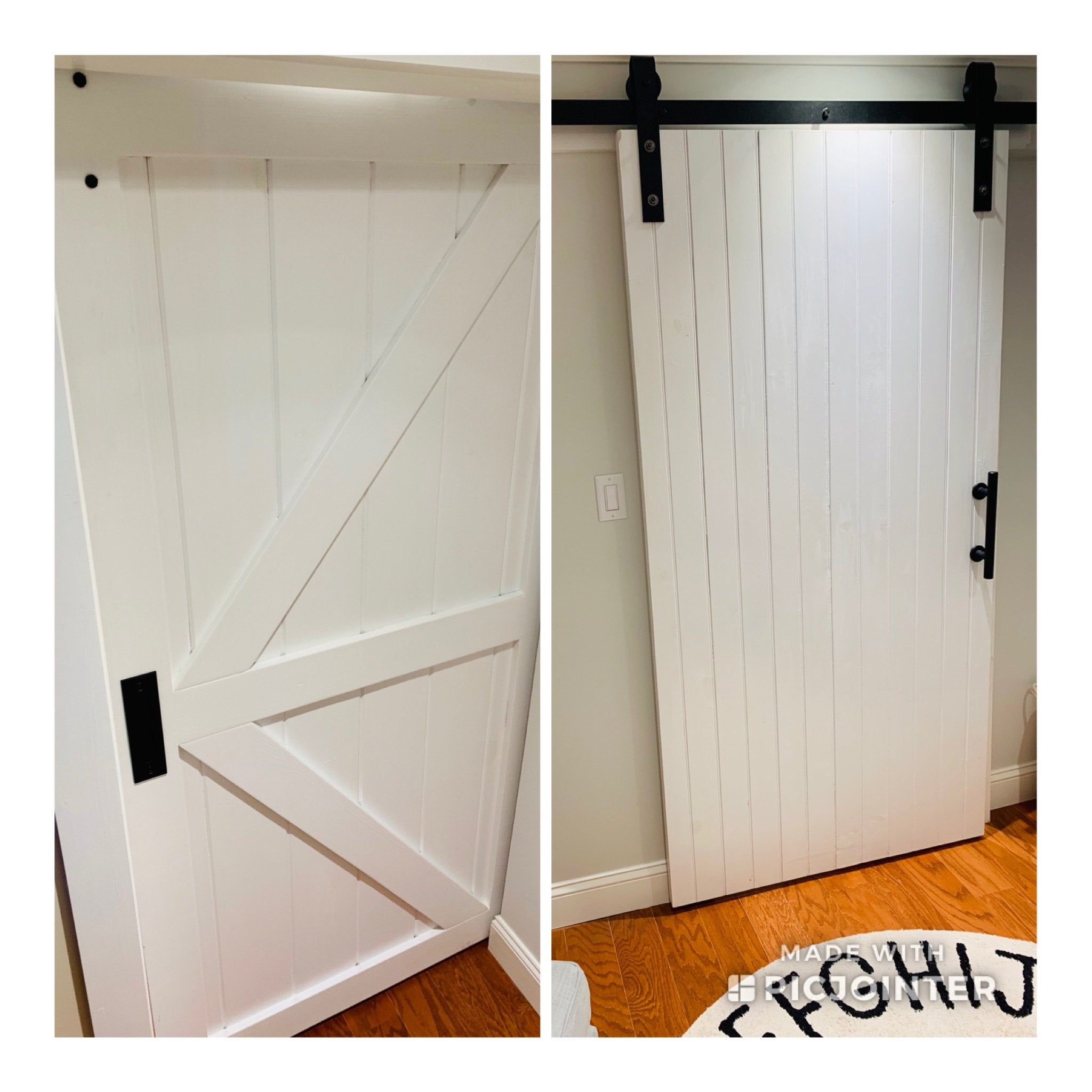 Barn Door Z Brace Style White Barn Door Barn Door Designs Barn Style Doors
