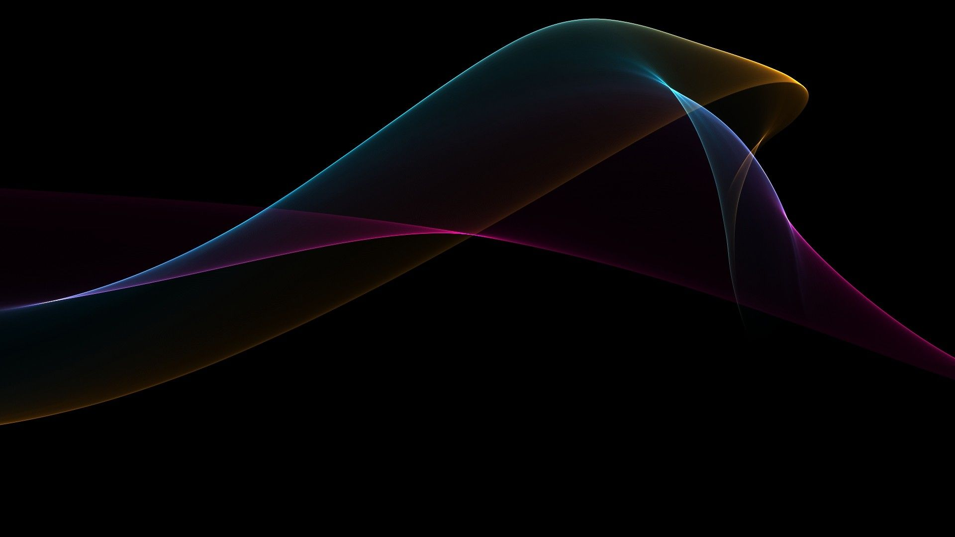 Abstract Black Minimalistic Waves Gradient Fresh New Hd Wallpaper