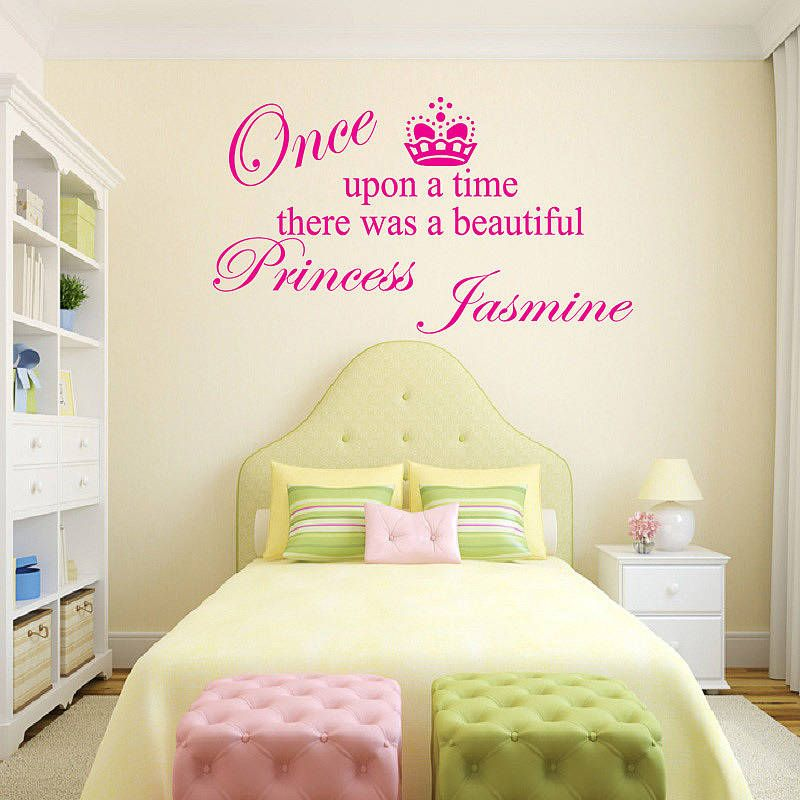 Personalised Princess Girls Wall Sticker By Wall Decals Uk By - Bedroom wall decals uk