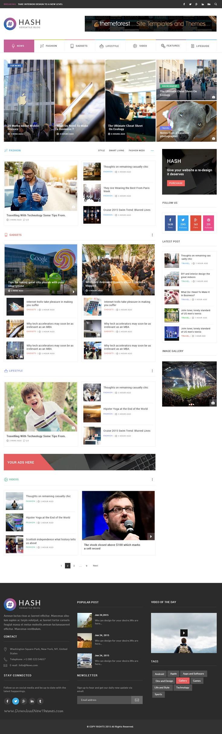 Hash News Magazine Psd Template News Web Design Web Layout Design Web Design
