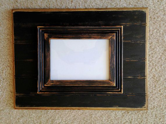 Distressed Solid Wood Picture Frame 12x16 by annelanedesigns