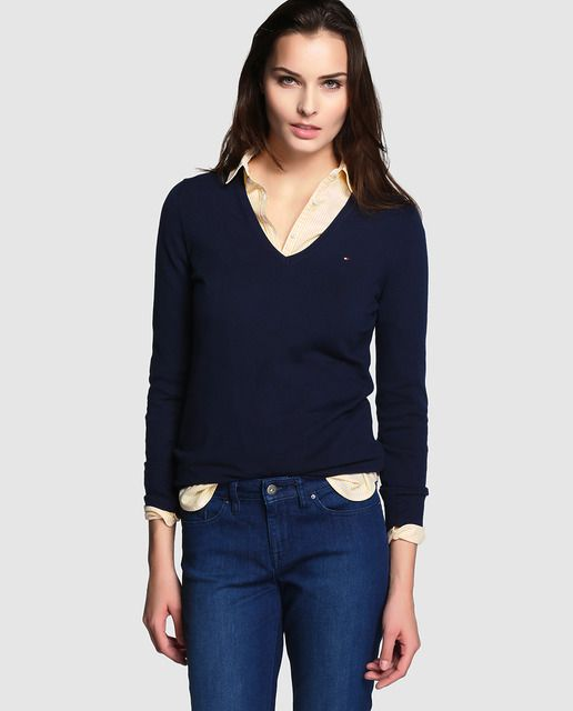 f0ba55f6737a Jersey de mujer Tommy Hilfiger | Buen gusto | Sleeves, Pullover y Blouse