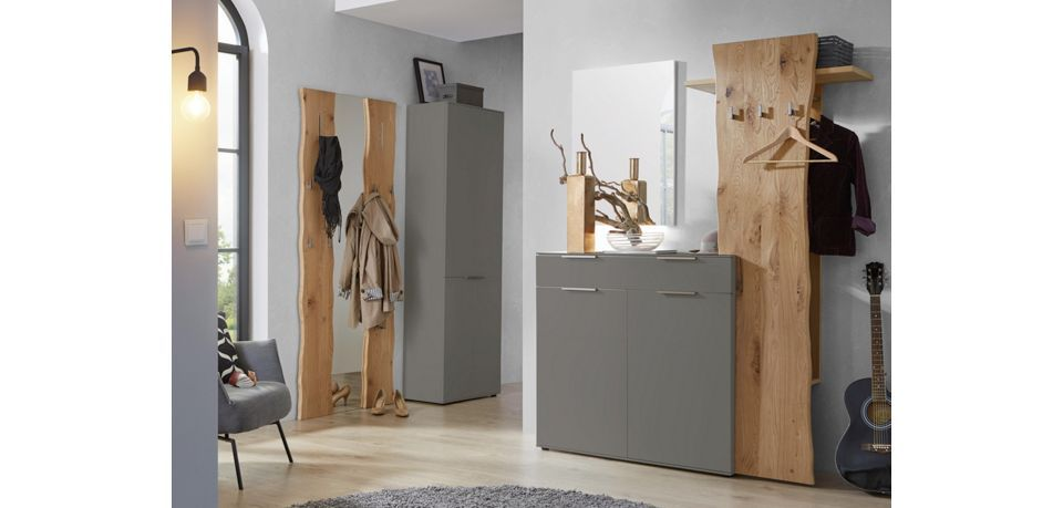 garderobe celona fango eichefarben modern holz holzwerkstoff 160 197 36cm dieter knoll. Black Bedroom Furniture Sets. Home Design Ideas