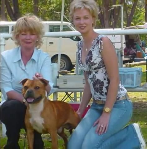 Peta Gibb - Andy Gibb's daughter (right side)and Andy's wife Kim.