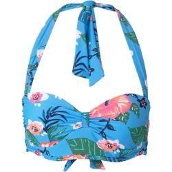 Photo of Tom Tailor Damen Bikini-Top mit Blumenmuster, blau, gemustert, Gr.40D Tom TailorTom Tailor