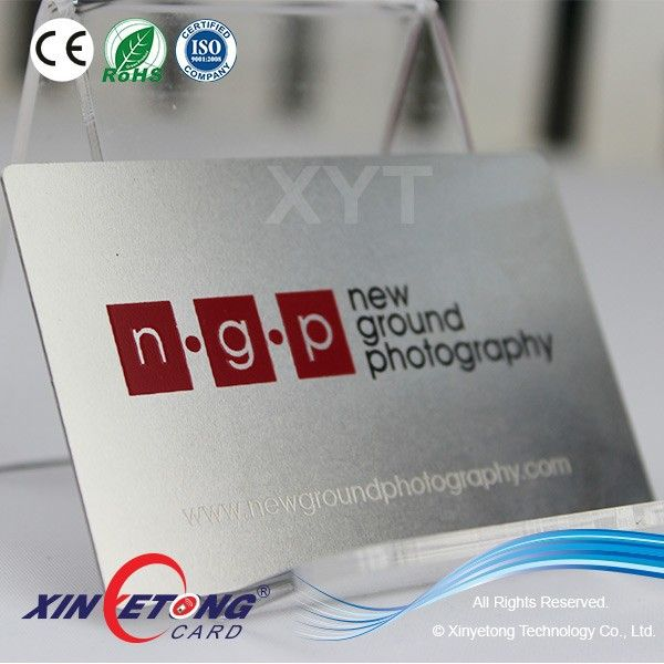Hign-End Polished Stainless Steel Card / Metal Card with Engraved ...