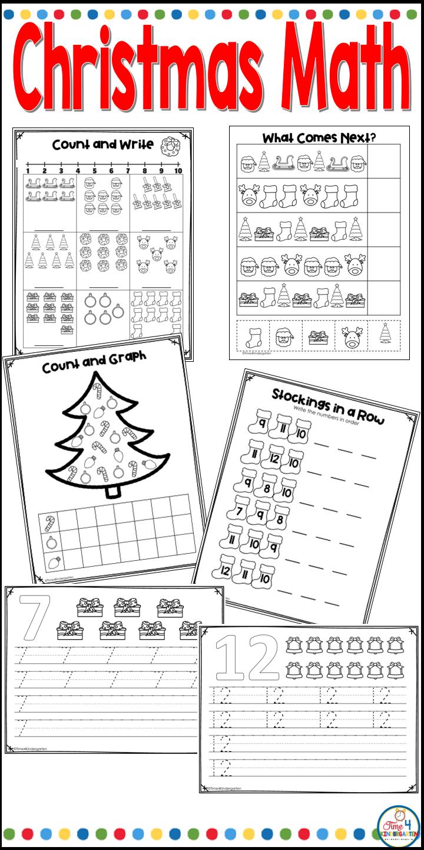 Easy Christmas Worksheets For Kindergarten