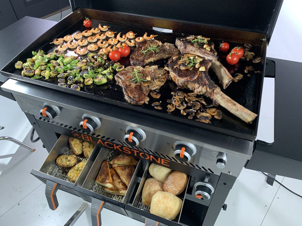 Blackstone Introduces New Airfryer Griddle Combo For 2020 Grilling Montana Griddle Recipes Outdoor Griddle Recipes Grilled Dinner