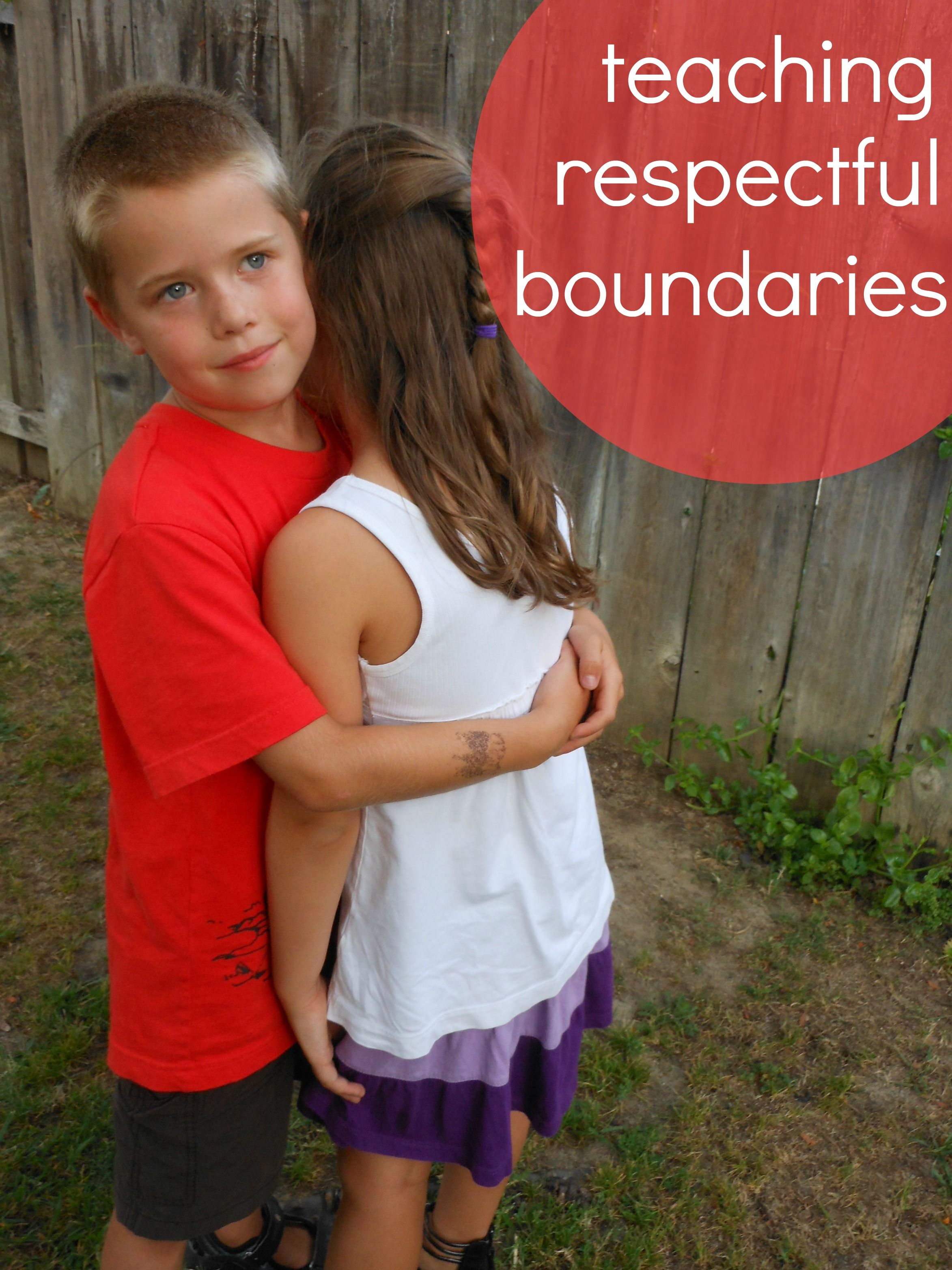Respectful boundaries.. important of affectionate kids.