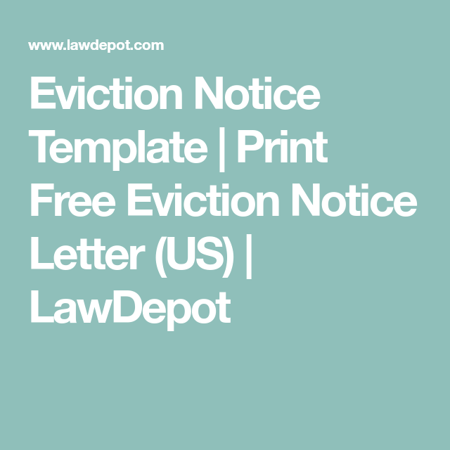 Eviction Notice Template  Print Free Eviction Notice Letter Us