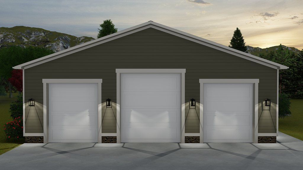 Traditional Style House Plan 0 Beds 0 Baths 3000 Sq Ft Plan 1060 71 Garage Door Design Garage Door Styles Rv Garage Plans