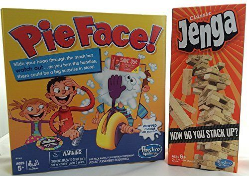 Pie Face Game Jenga Stacking Game By Hasbro Family Games For Kids