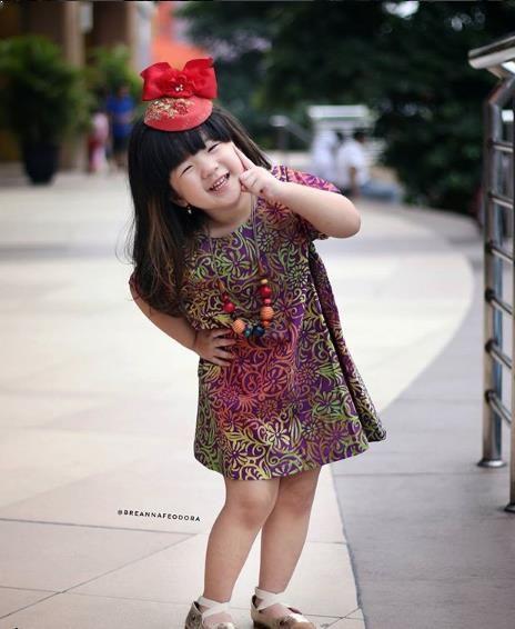 Foto Baju Batik Anak Modern Model Baju Batik Dress Anak Perempuan Gaun Gadis Kecil Baju