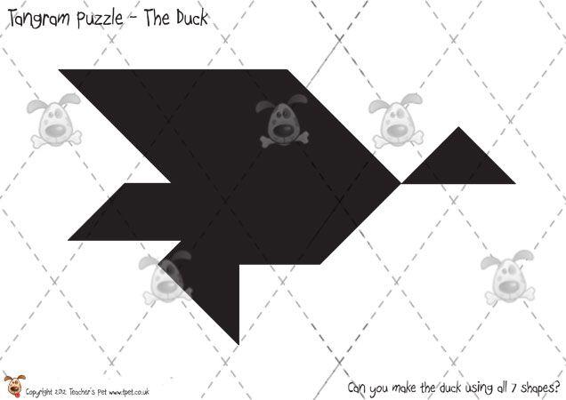 Drawing Lines Of Symmetry Worksheets Ks : Teacher's pet tangram puzzles difficult premium printable game