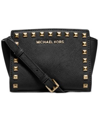 2f805cc1c7b3 MICHAEL Michael Kors Selma Stud Mini Messenger | macys.com | Wish ...