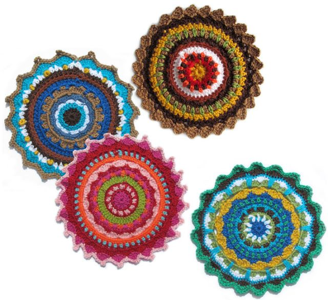 Crochet Flat Circle With Translation Crochet Stiches And How Much