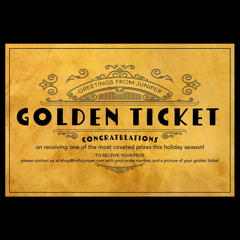 Golden Ticket Promotion 5 5 Left Golden Ticket Ticket Golden