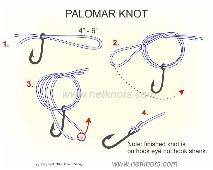 Palomar knot fishing knots pinterest palomar knot for Fishing knots for braided line