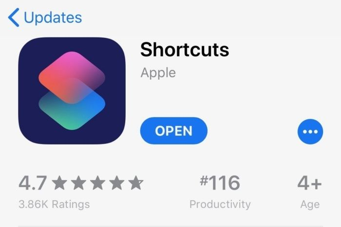 The Shortcuts app for iOS 12 is now available—make sure