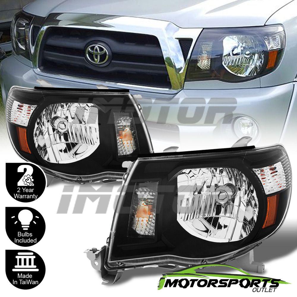 2005 2006 2007 2008 2009 2010 2017 Toyota Tacoma Trd Style Black Headlights Ebay Motors Parts Accessories Car Truck