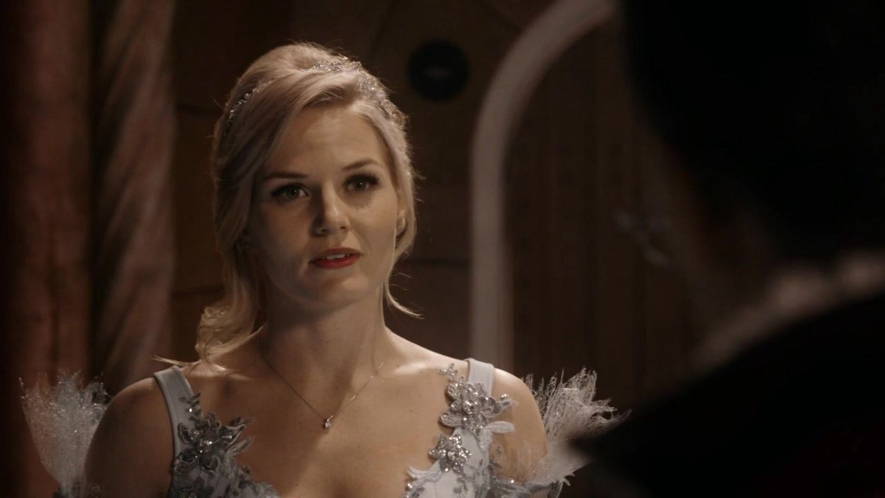 Emma asking her Daddy Charming to teach her how to dance for her first ball