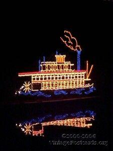 oglebay park festival of lights west virginia ohio river steamboat in lights on oglebay - Oglebay Park Christmas Lights