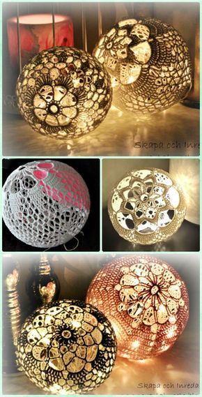 Crochet Light Ball Lamp Shade Free Pattern Crochet Lamp