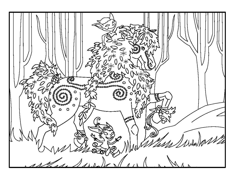 Coloriage cheval en ligne pour kela coloriage cheval coloriage et dessin a imprimer - Coloriages cheval ...