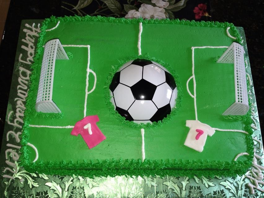Soccer Field Birthday Cake Cake Images Soccer Party Favors