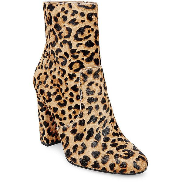 9a7b1923f Steve Madden Editor-L Booties ($150) ❤ liked on Polyvore featuring shoes,  boots, ankle booties, ankle boots, leopard, bootie boots, leopard print  booties, ...