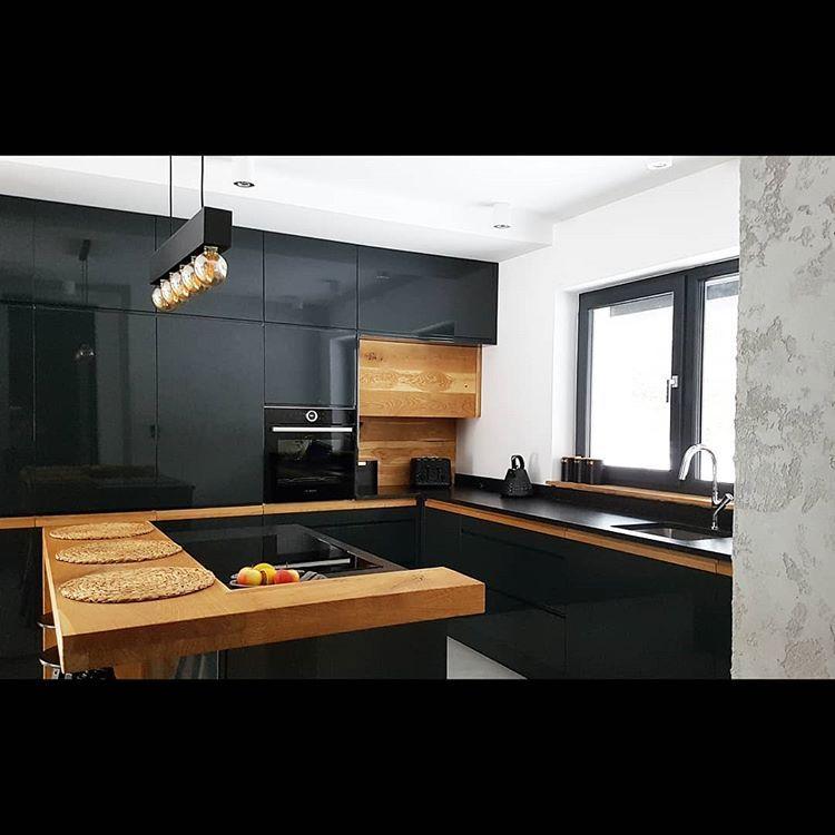 Wyspa Kuchenna I Spojrzenie W Kierunku Salonu Na Drugim Planie Tyl Kominka I Sciana Jadalni Zawsze Mar Kitchen Design Small Kitchen Design Kitchen Renovation