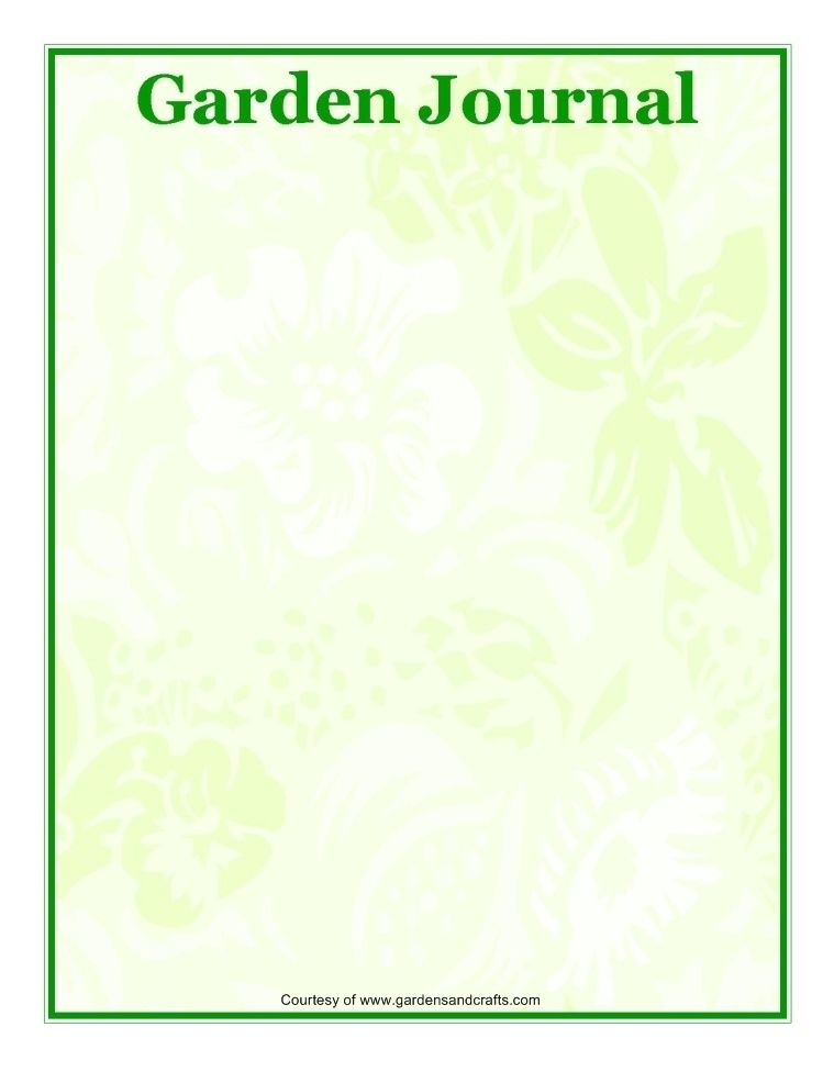 Free downloadable pages for your garden journal @ http://www ...