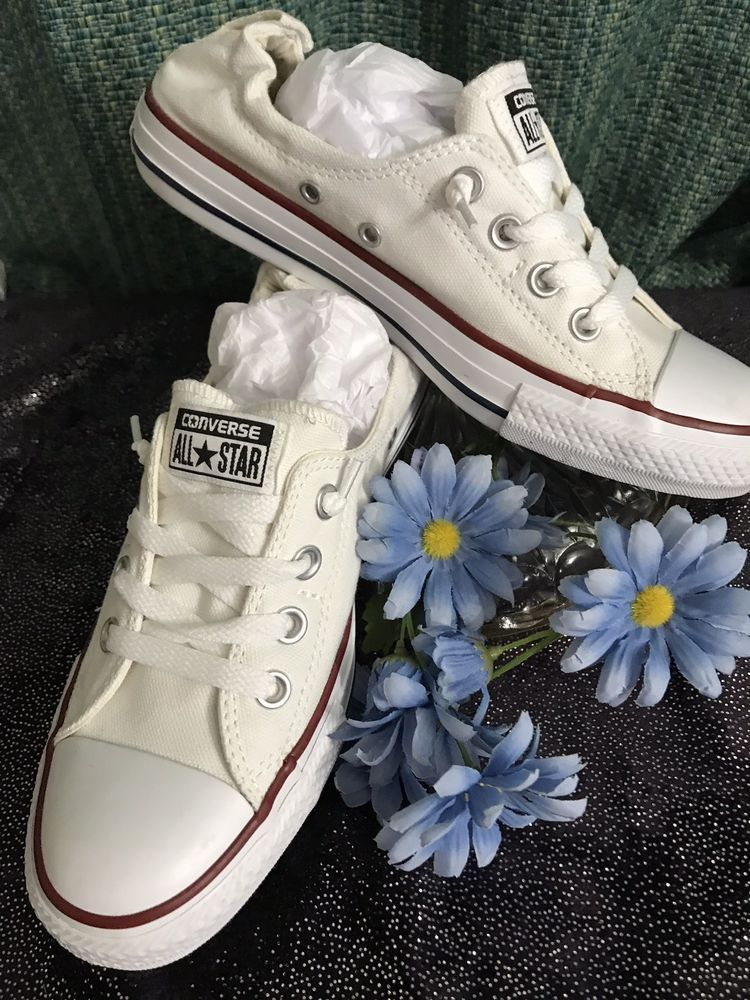 White Converse All Star Sneakers Womens