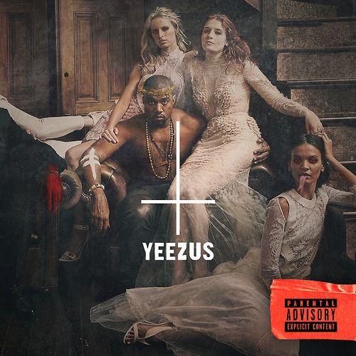 Kanye West Blaspheming Mocking Jesus With Upside Cross Crown Of Thorns And Yeezus