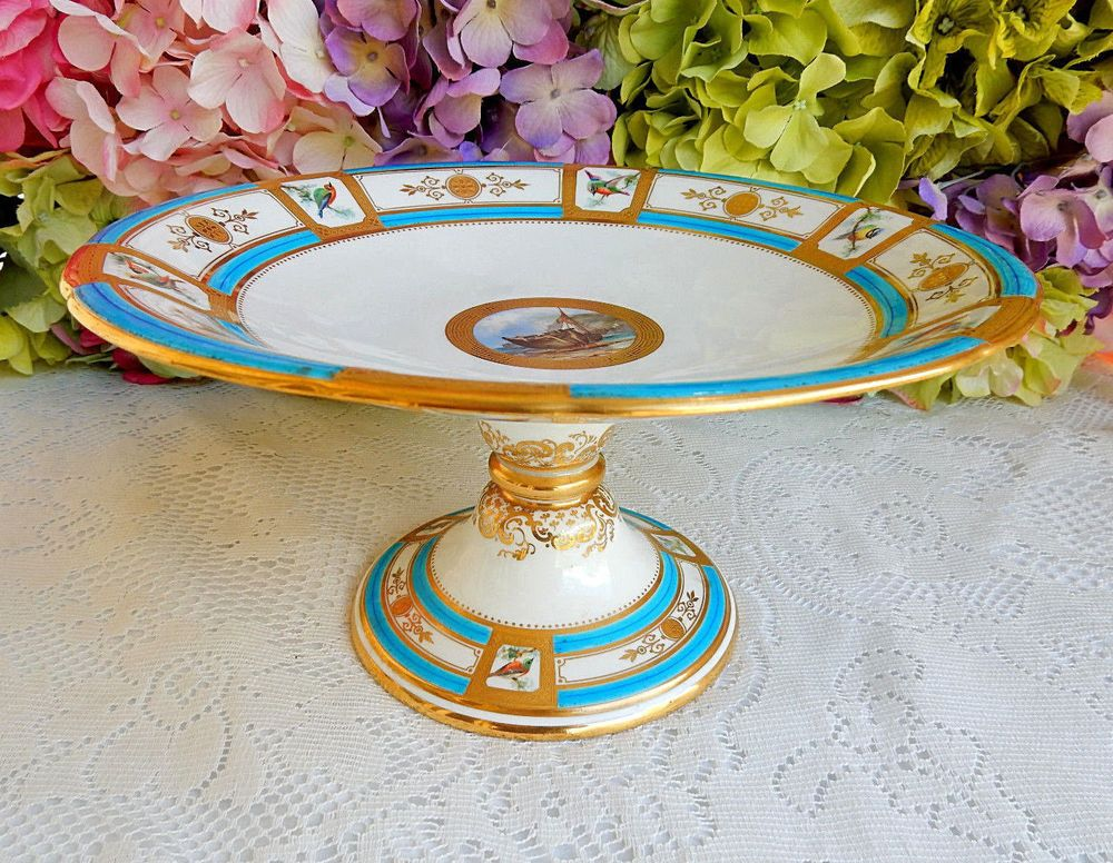 Antique Minton Porcelain Compote Tazza
