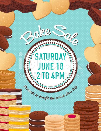 Bake sale poster template There is a big assortment of cookies - for sale template free