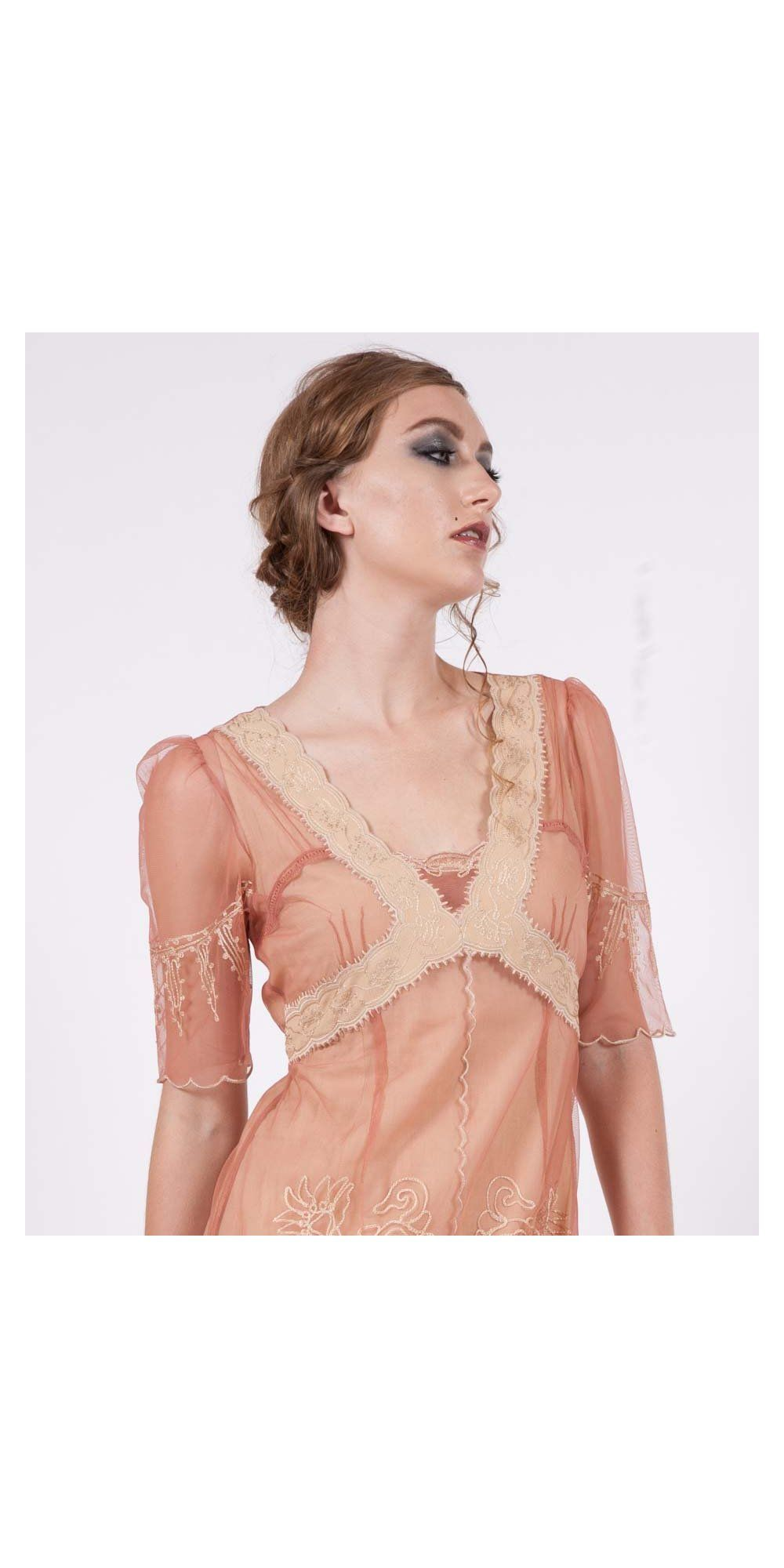 New Vintage Titanic Tea Party Dress in Rose/Gold by Nataya - SOLD OUT