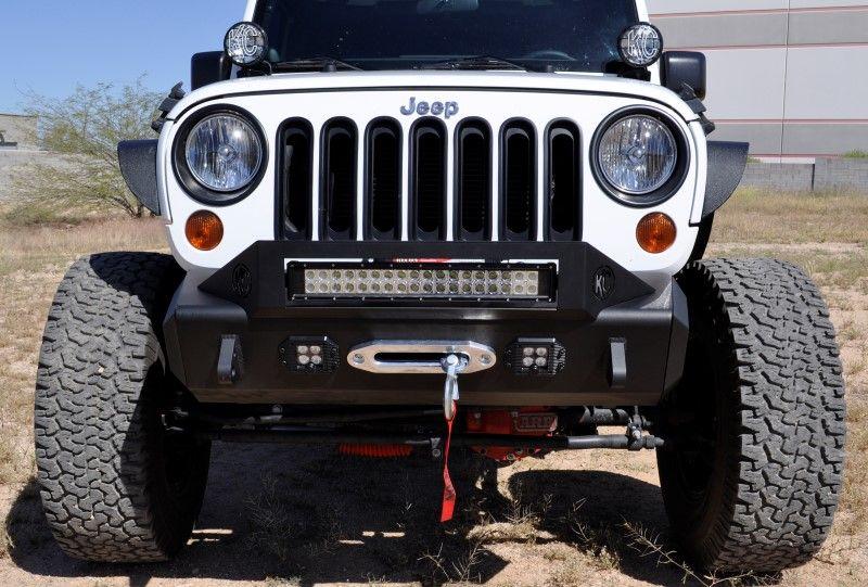 2007 2018 Jeep Jk Modular Stealth Fighter Front Bumper Center W Tow Hooks Jeep Jeep Jk Jeep Wrangler Jk