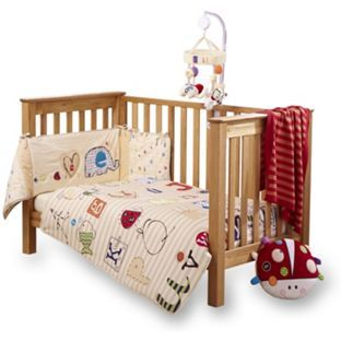 buy clair de lune cot bed quilt and bumper set abc at. Black Bedroom Furniture Sets. Home Design Ideas