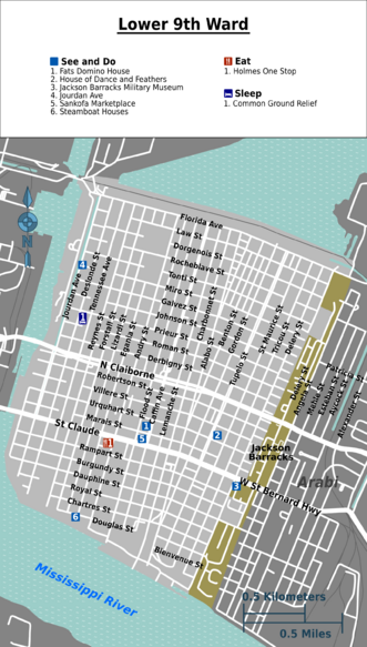 Lower Ninth Ward map.png | NEIGHBORHOODS/ Faubourgs of New Orleans ...