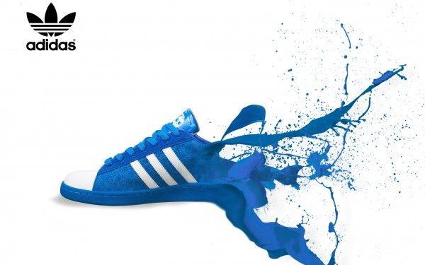 Adidas Shoe Paint Splash Wallpaper