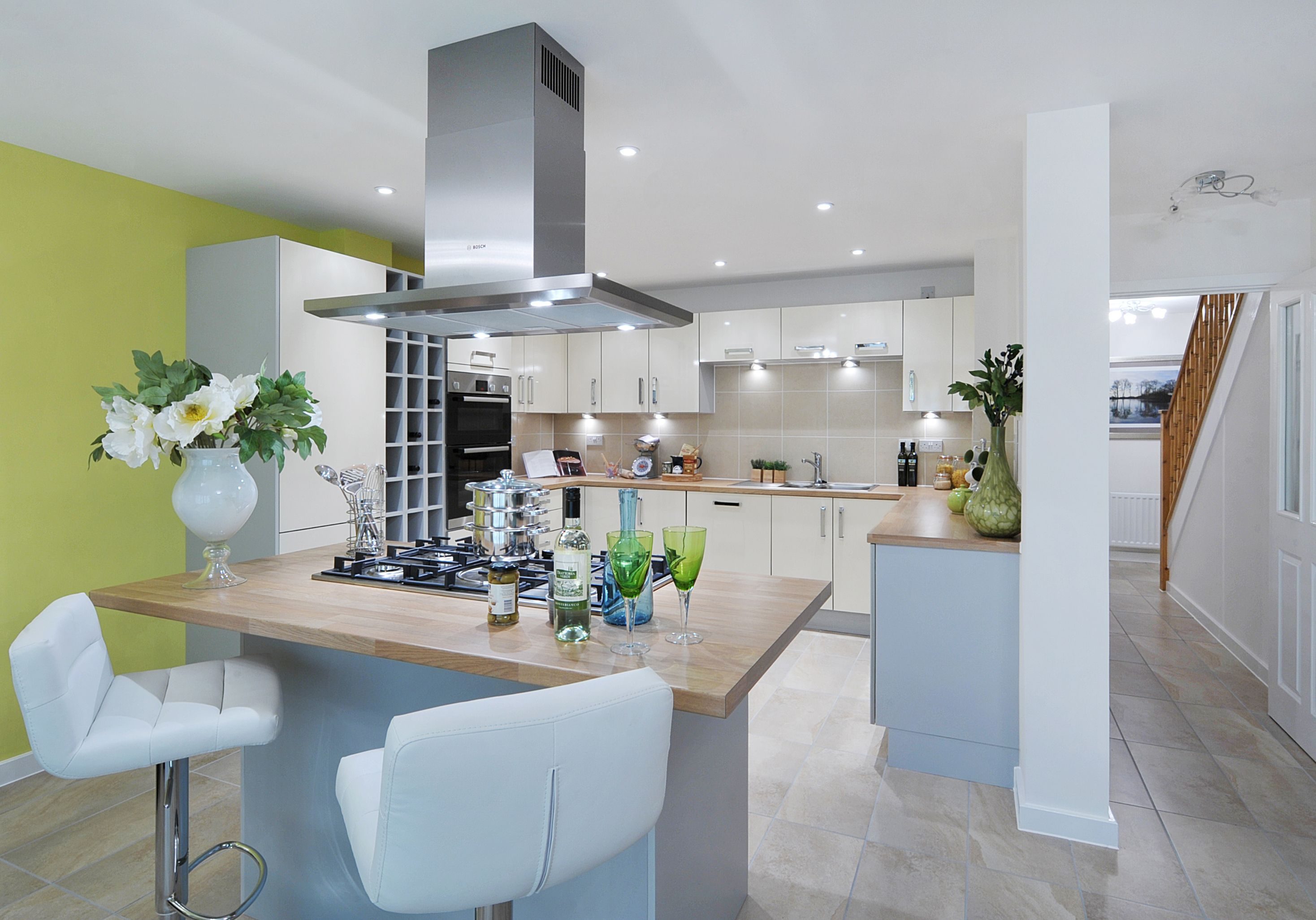 A Tastefully Designed New Build Home In Wiltshire Uk Modern Kitchen Modern Kitchen Diner Modern Kitchen Island