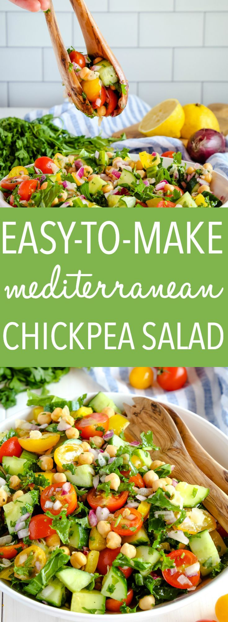 Easy Mediterranean Chickpea Salad images