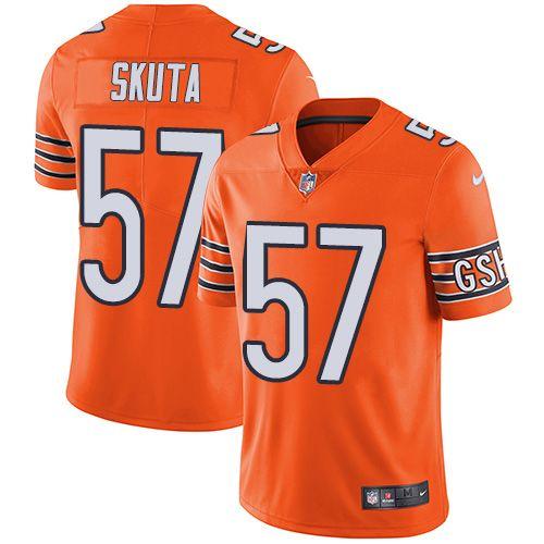 Youth Nike Chicago Bears #57 Dan Skuta Limited Orange Rush NFL ...