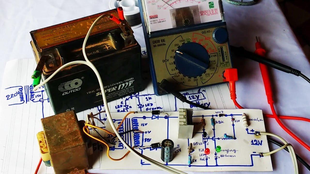 Como Fazer Um Simples Circuito De Carregador Para Bateria De 12v