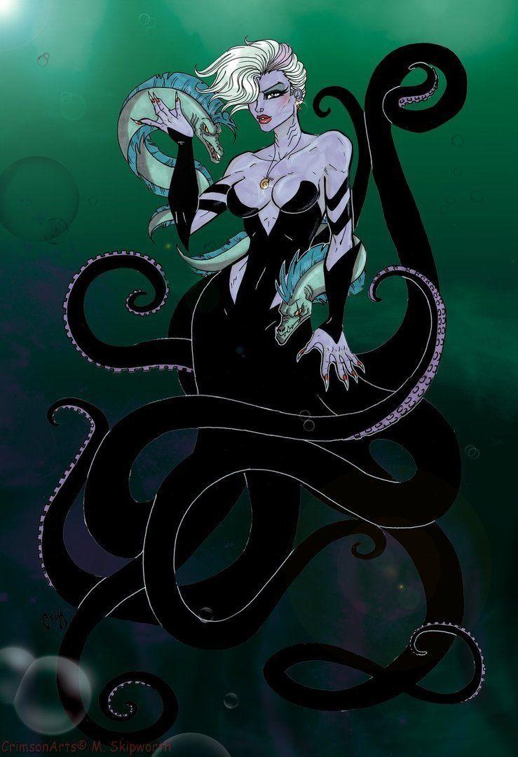 Ursula  Héros de dessin animé, Dessin de personne, Princesse zombie